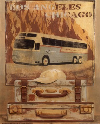 Framed Bus - Los Angels Chicago Print