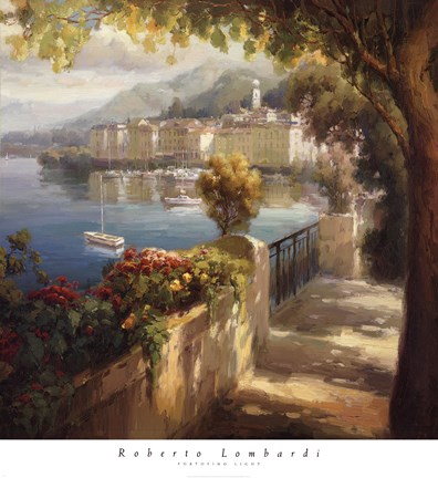 Framed Portofino Light Print