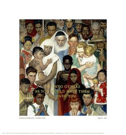 Golden rule painting by norman rockwell at for Golden rule painting