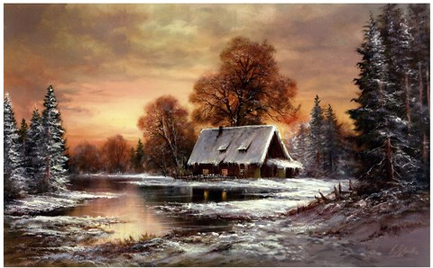 Framed Winter In Belarus I Print