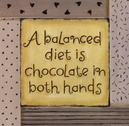 Framed Balanced Diet Print