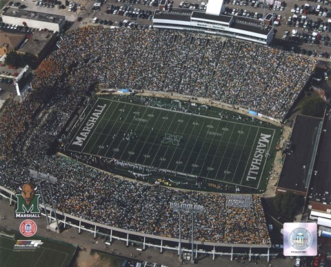 Framed Marshall University Stadium - Aerial View Print
