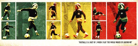 Framed Bob Marley Football Print