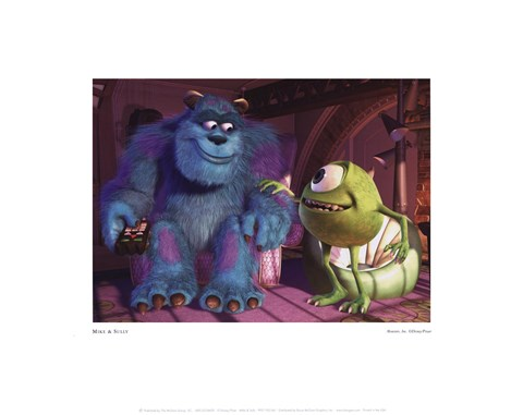 Framed Mike & Sully Print