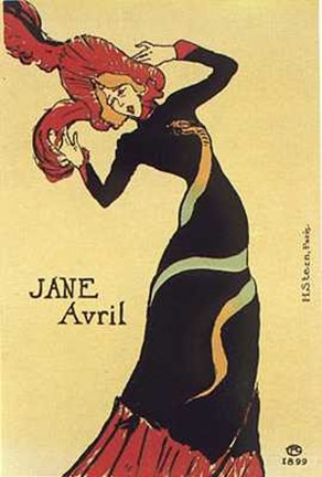 Framed Jane Avril 1899 Print