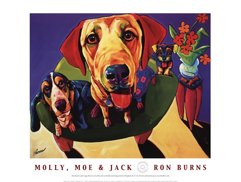 Molly Moe And Jack Artwork By Ron Burns At Framedart Com