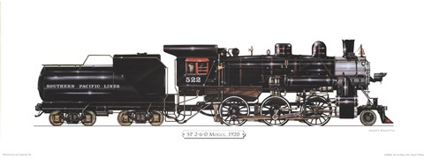 Framed Sp2-6-0 Mogul, 1920 Print