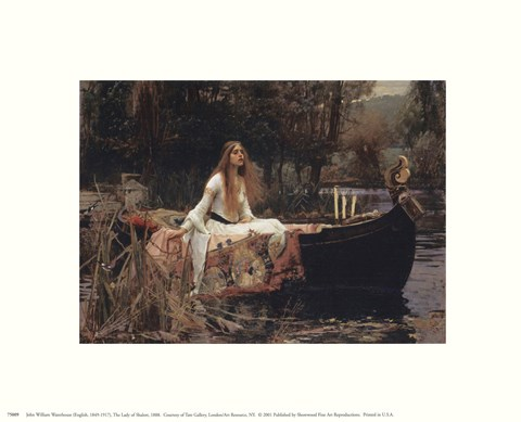 Framed Lady Of Shalott Print