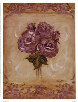 Framed Rose Violeta Print