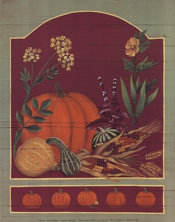 Framed Autumn Vegetables Print