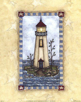 Framed Lighthouses II Print