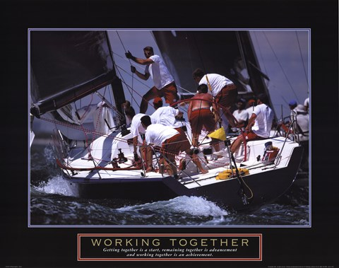 Framed Working Together - Sailors Print
