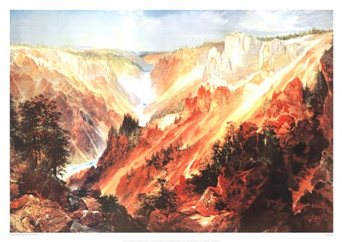 Framed Grand Canyon Of The Yellowstone Print