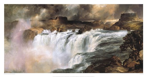 Framed Shoshone Falls On The Snake River Print
