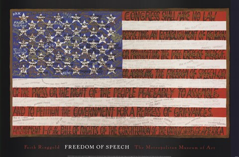 Framed Freedom of Speech Print