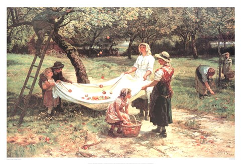 Framed Apple Gatherers Print