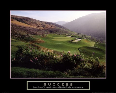 Framed Success - Golf Course In Hills Print