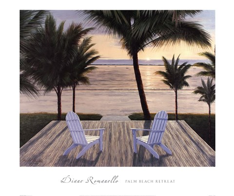 Framed Palm Beach Retreat Print
