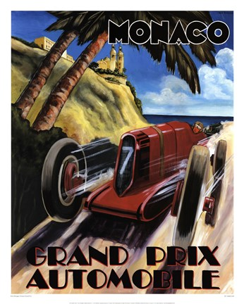 Framed Monaco Grand Prix Print