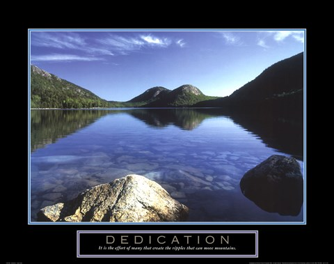 Framed Dedication - Jordan Pond Print