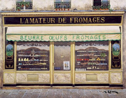 Framed L'Amateur De Fromages Print