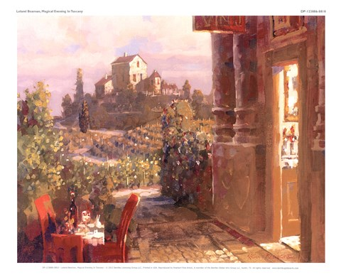 Framed Magical Evening In Tuscany Print
