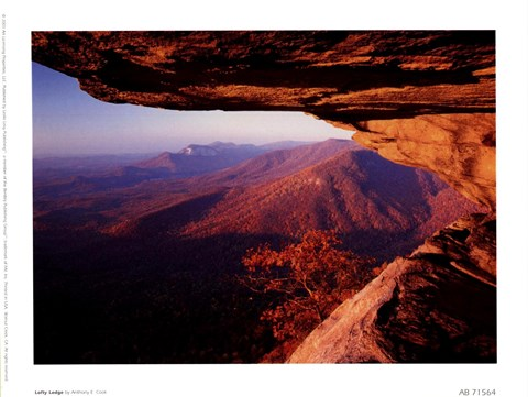Framed Lofty Ledge, Blue Ridge Mountains Print