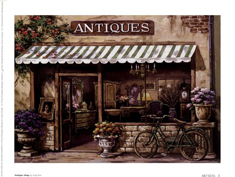 Framed Antique Shop Print