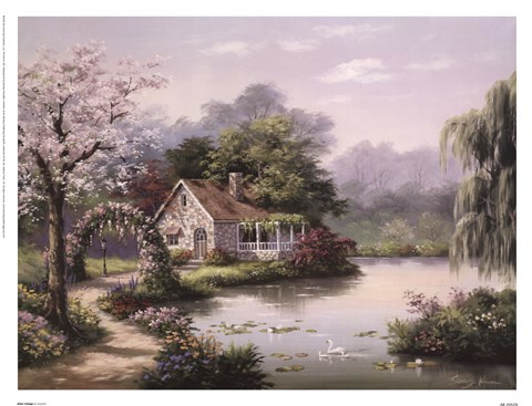 Framed Arbor Cottage Print