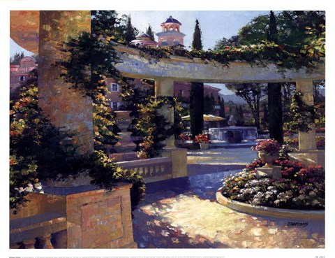 Framed Bellagio Garden Print
