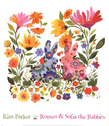 Framed Romeo And Sofia The Rabbits Print