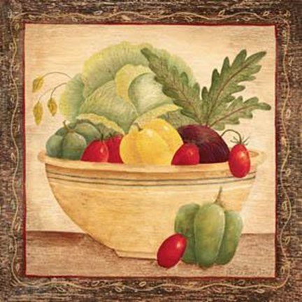 Framed Vegetable Bowl III Print