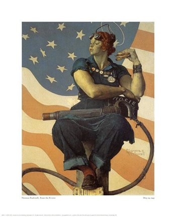 rosie the riveter painting by norman rockwell at. Black Bedroom Furniture Sets. Home Design Ideas