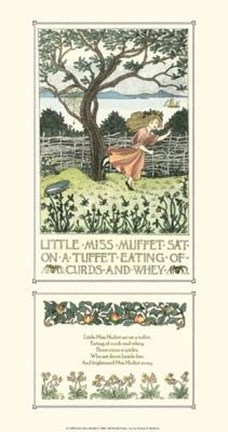 Framed Little Miss Muffet Print