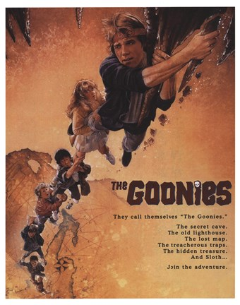 Framed Goonies Movie Print