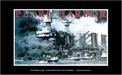 Framed Pearl Harbour - Infamy Print