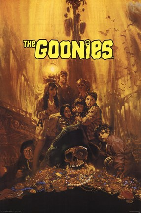 Framed Goonies - Treasure Print