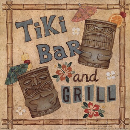 Framed Tiki Bar Print