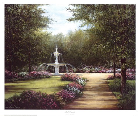 Framed Park Fountain Print