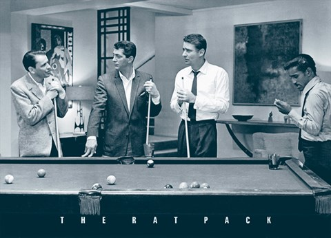 Framed Rat Pack - Pool Print