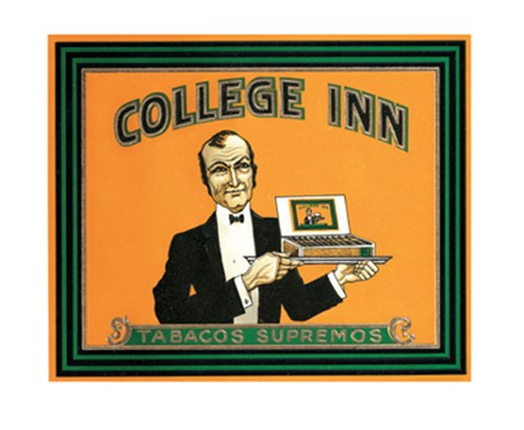 Framed College Inn Print