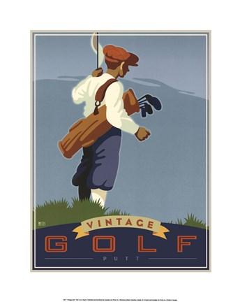 Framed Vintage Golf - Putt Print