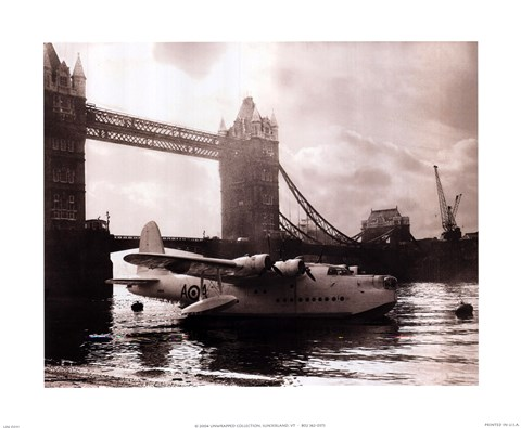 Framed Flying Boat - London Print
