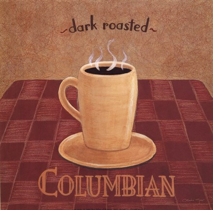 Framed Columbian Coffee Print