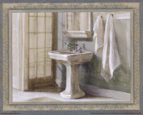 Framed Refreshing Bath I Print