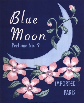 Framed Blue Moon Perfume #9 Print