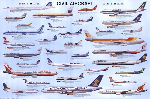 Framed Civil Aircraft Print