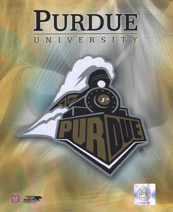 Framed 2008 Purdue University Logo Print