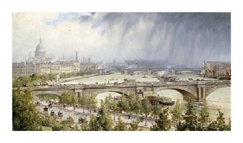 Framed St Paul's From Waterloo Bridge Print