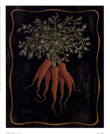 Framed Bouquet Of Carrots Print